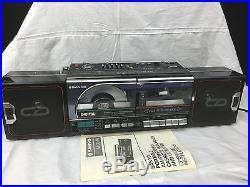 1986 Sanyo Vtg BOOMBOX M CD40 CD Player Portable Radio Cassette Recorder 1980