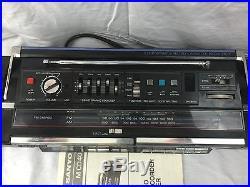 1986 Sanyo Vtg BOOMBOX M CD40 CD Player Portable Radio Cassette Recorder 1980's