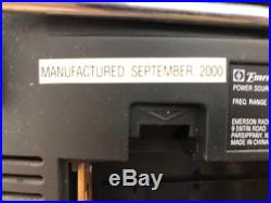 2000 EMERSON PURPLE BOOMBOX Portable CD, CD-R/RW Player Cassette Recorder Radio