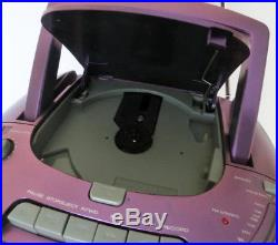 2003 EMERSON BOOMBOX Portable CD, CD-R/RW Player Cassette Recorder AM/FM Radio