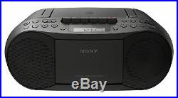 80s Boombox Sing Along Cd Mp3 Portable Cassette Tape Player Fm/Am Stereo Black