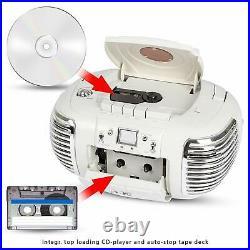 AEG NSR 4377 Radio Cassette Vintage, Estilo Retro portátiCD, MP3, USB, AUX-iN