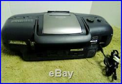 AIWA CSD-EX100 Portable Stereo Cassette, CD-R/RW Player, FM AM Radio