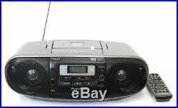 AM/FM CD/CASSETTE/USB Portable Audio Player with Superior Output