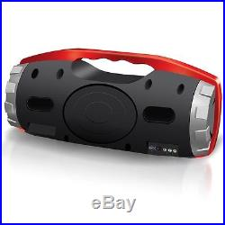 AXESS BLUETOOTH PORTABLE FM CD MP3 USB/SD AUX-IN PLAYER BOOMBOX with HEAVY BASS