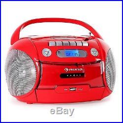 Auna Boomheart Portable Boombox Radio CD-Player Cassette Deck USB MP3 FM Tune