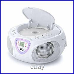 Auna Roadie Kids Portable Boombox with CD Player and Radio LED Light AM/FM Ra