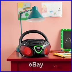 Auna Roadie Portable Boombox LED light AM/FM Radio Bluetooth MP3/CD Player