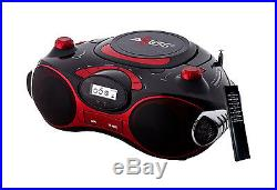 Axess PB2704 Red Portable Boom box MP3 / CD Player Text Display AM/FM Stereo New