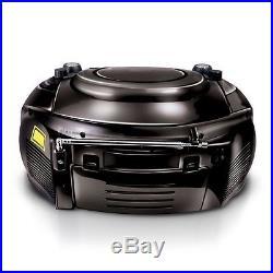 Axess PB2705-BK Portable AM/FM Radio CD/MP3 Player USB/SD & Casette Recorder Box