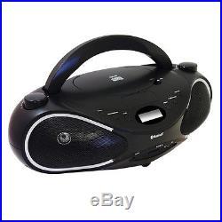 Axess Portable Bluetooth Boombox 3.5mm MP3/CD Card Slot Input Player FM Stero