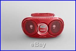 Az215r Portable Cd Player With Radio, Jack 3.5 Mm, Compact