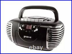 Black Groove Retro-style portable cd radio cassette player Boombox NEW 2021