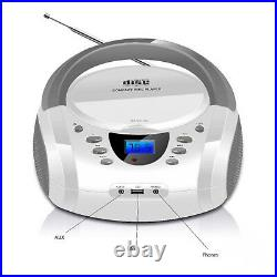 Bluetooth CD Boombox Portable CD Player USB Boombox Stereo Subwoofer Speaker