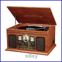 Bluetooth Nostalgic Entertainment Center Fm Radio Cd Player Stereo Speakers New