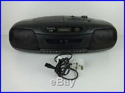 Boom Box Panasonic DT401 MASH Portable Stereo Double Tape CD Player System Music