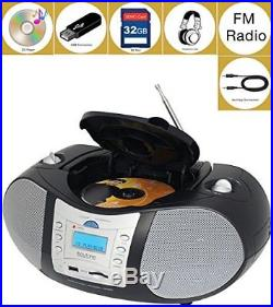 Boytone BT-6B CD Boombox Black Edition Portable Music System with CD Player