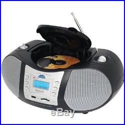 Boytone BT-6B CD Boombox Black Edition Portable Music System with CD Player & US