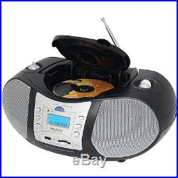 Boytone BT-6B CD Boombox Black Edition Portable Music System with CD Player US