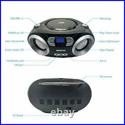 CB-M25BT Portable CD Player Boombox with FM Stereo Radio, Bluetooth Wireless