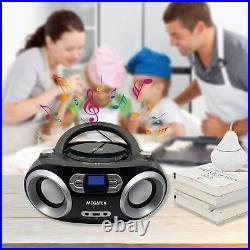CB M25BT Portable CD Player Boombox with FM Stereo Radio Bluetooth Wireless New