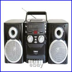CD Player AM FM Stereo Boombox Radio Cassette Portable Tape Recorder Old School