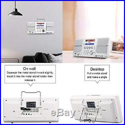 CD Player, Portable Boombox, With FM Radio, Alarm Clock, USB, SD Card, AUX-In