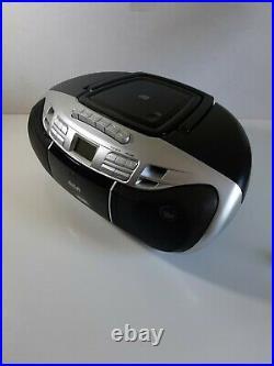 CIB RCA RCD378D Portable AM/FM Radio CD Player/Cassette Recorder Boombox