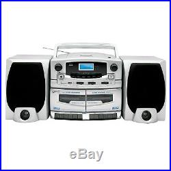 Double Cassette Recorder Supersonic Portable Mp3 CD Player Am/fm Radio & Usb New