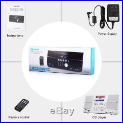 DPNAO CD Player Boombox Portable with FM Radio Alarm Clock USB SD Card