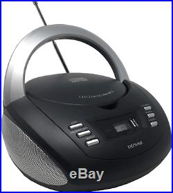 Denver TCU-211 Portable CD Player Boombox Stereo with USB, FM Radio and MP3