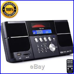 Dpnao Cd Player Portable Boom Box With Clock Fm Radio Clock Usb Sd Aux Line-In F