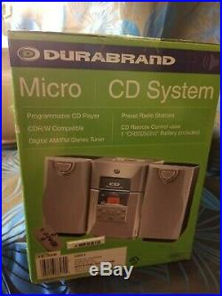 Durabrand 3 Piece CD-6017 Compact Micro CD Disc System Portable Stereo Boombox
