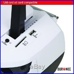 Duronic Portable Audio CD Player Speaker Clock Radio Flash Memory SD Card NEW