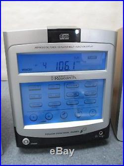 EMERSON RESEARCH MODEL E2 FM/AM DIGITAL CD PLAYER PORTABLE STEREO WITH REMOTE