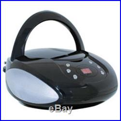 GPX BC112B Portable Boombox CD player AM/FM radio CD-R/RW discs Built-in speaker