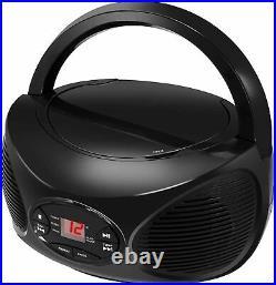 GPX BCB119B Portable Wireless Bluetooth FM Radio CD Player Boombox