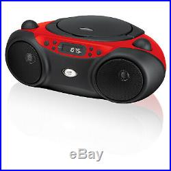 GPX, Inc. Portable Top-Loading CD Boombox with AM/FM Radio and 3.5mm Line In