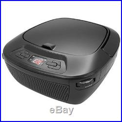 GPX Portable Bluetooth Boombox/CD Player, Requires 6 C Batteries Not