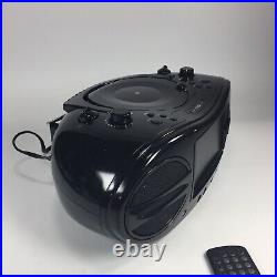 GPX Portable Boombox Music & Movie System CD DVD Player AM/FM Radio TESTED