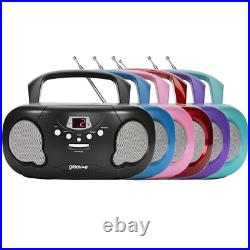 GROOVE BOOMBOX PORTABLE CD PLAYER With RADIO/AUX IN/HEADPHONE JACK TEAL GVPS733