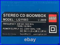 Genuine Blue Lego LG11003 Stereo CD Portable Boombox Radio CD Player 2009