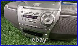 Goodmans GPS 351 Portable Boombox CD Cassette Player with Bass Boost Function