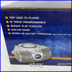 Goodmans GPS100S Mini Boombox Mains Battery CD Player FM Radio Portable Working