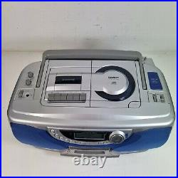 Goodmans GPS360MD Portable CD, Cassette and Mini Disc Player with AM/FM Radio