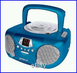 Groov-e Boombox Childrens Kids Blue Portable Aux-in CD Player with Radio New