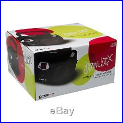 Groov-e Boombox Childrens Kids Teens Black Portable CD Player with Radio & Aux