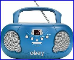 Groov-e Boombox Portable CD Player With Radio Blue New