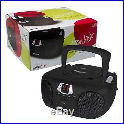 Groov-e GVPS713BK Boombox Childrens Kids Black Portable CD Player with Radio