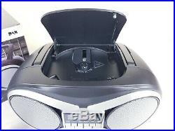 Groov-e GVPS753 DAB Boombox Portable CD Player DAB/FM Radio Black